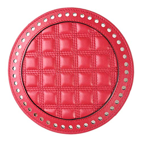 B Baosity Bolsas de Ganchillo de Punto Hechas a Mano Bolsas de Tejido de Almohadilla Moldeadora Inferior Insertar Base de Cojín 8 Colores - Rojo, Individual