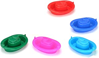 NUOLUX 2 Pcs Bath Toys Bathtime Floating Boat Plastic Ship Model for Toddlers Kids (Random Color)