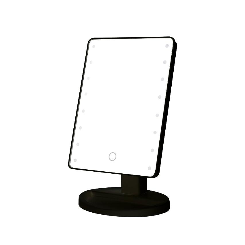雷雨みアラスカB-PING 鏡 卓上 化粧鏡 16LEDライト搭載 女優ミラー 卓上ミラー 180度回転 電池給電 プレゼント メイク 化粧道具 メイクアップミラー