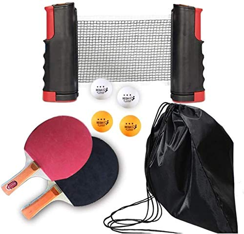 Great Price! Professional Ping Pong Paddle Racket Table Tennis Table Net Table Tennis Racket Contain...
