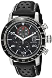 Citizen Men's 'Eco-Drive' Quartz Stainless Steel and Leather Casual Watch, Color:Black (Model: CA0649-14E)