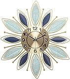 Sunmong Orologio da Parete Orologio da Parete Moderno per Camera da Letto Camere da Letto Cucina 8 7 Pollici Non ticchettio Silenzioso Orologio da Parete in Metallo Orologi Design a Foglia Orologi