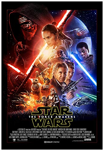 Star Wars The Force Awakens Movie Poster 24 x 36 Inches Full Sized Print Unframed Ready for Display