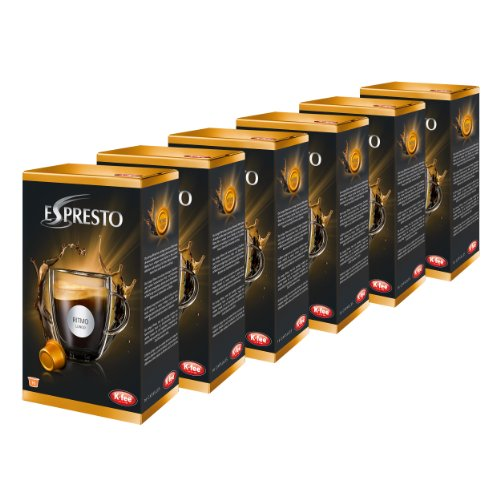K-Fee Espresto Ritmo, Kaffee, Caffe Crema, Arabica, Intensität 5, 6er Pack, 6 x 16 Kapseln