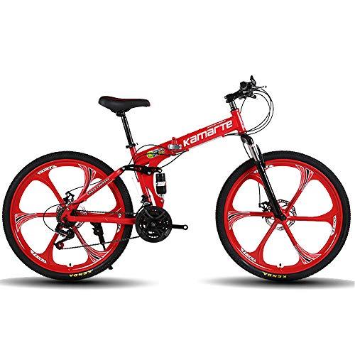 DRAKE18 Bicicleta de montaña Plegable, 26 Pulgadas, 27