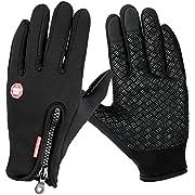 WZS Winter Gloves Touch Screen Gloves Anti-Slip Sports Gloves Windproof -XL