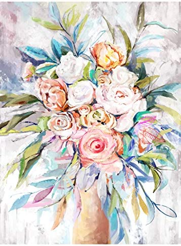 Ruby Beauty Paint by Numbers for Adults Easy DIY Rose Flowers Acrylic Oil Painting Large Canvas product image
