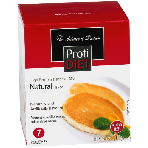 ProtiDiet Pancake Mix 6.2oz 7 pouches (Natural)