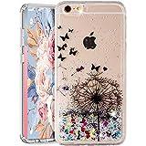 Funda para iPhone 8 Plus / iPhone 7 Plus, iPhone 8 Plus con purpurina arenas movedizas líquidas anticaída Flotantes Delgado Cristal Silicona Carcasa funda de silicona TPU para niñas mujeres,XY Pu