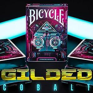 U.S.P.C.C. Gilded Cobalt Bicycle Cybershock Playing Cards
