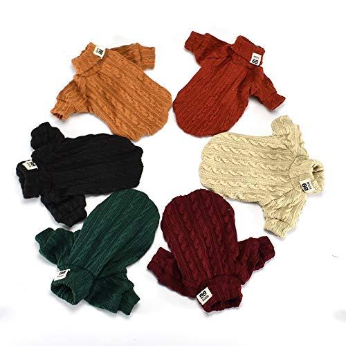 GBY Huisdier kleding kat en hond kleding, kat en hond geborduurde trui coltrui truien, puppies kleding twee-benige herfst en winter huisdier truien, geschikt voor kleine honden en katten, X-Small, ORANJE