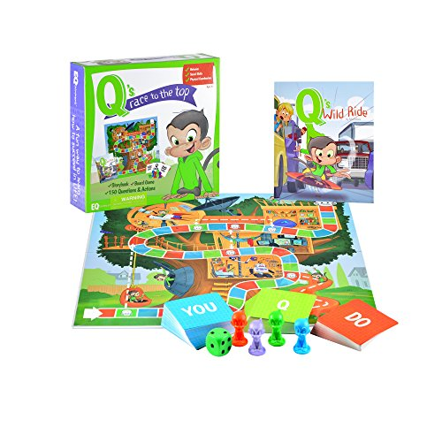 Qs Race to the Top Educational Board Game with Book: social skills,...