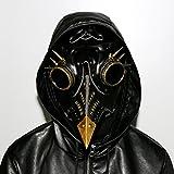 N/N - Maschera per la morte per costume di Halloween, maschera da medico della peste con rivetto nero lungo naso uccello becco steampunk maschere per costumi in maschera, Halloween, carnevale, cosplay