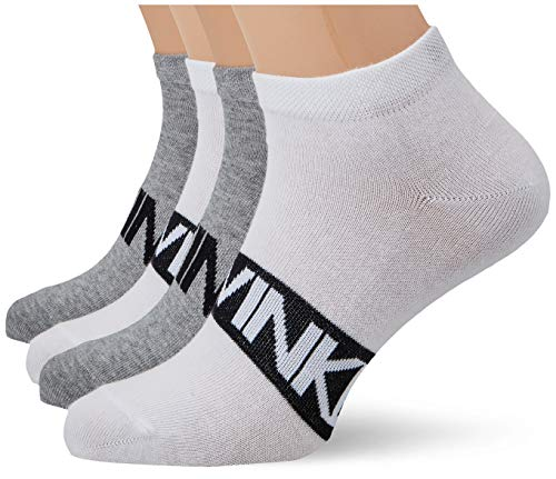 Calvin Klein Socks Mens Liner 2p Intense Power Dirk Socks, White Combo, 43/46