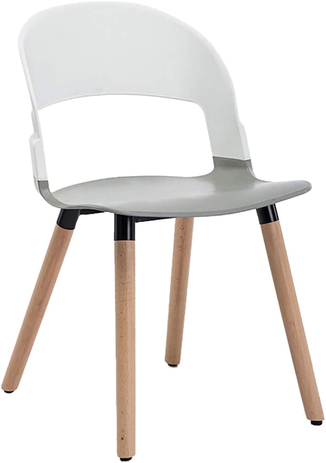 Nordic Creative Lounge Chair, Solid Wood Dining Chair, Curved Backrest with Ergonomic Design, Strong Load Capacity, for Restaurant Office Counter Family