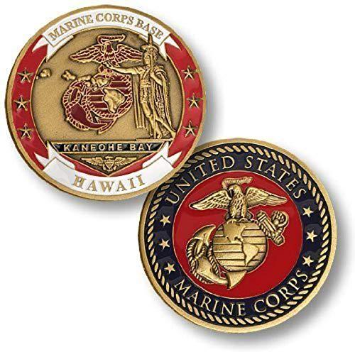 Price comparison product image U.S. Marine Corps Base Kaneohe Bay Hawaii Challenge Coin