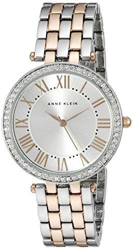 Anne Klein Women's Stainless Steel Japanese-Quartz Watch with Alloy Strap, Two Tone, 16 (Model: AK/2231SVRT)