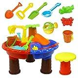 Juguetes de mesa de arena para nios, juego de mesa de arena y agua para nios y nias, herramientas de...