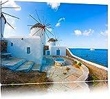Kleine Windmühlen im Mittelmeer Format: 60x40 auf