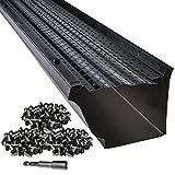 LeafTek 5' x 32' Gutter Guard Leaf Protection in Black | DIY Premium Contractor Grade 35 Year...