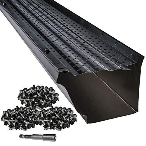"""LeafTek 5"""" x 100' Gutter Guard Leaf Protection in Black"""