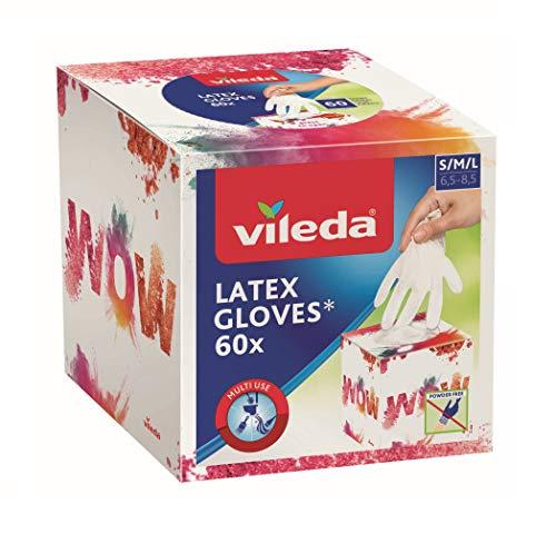 Vileda Multi Latex Cubic Boîte de 60 gants jetables en latex