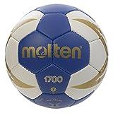 Molten HX1700 - Balón de Balonmano, categoría Senior Masculino, Blanco y Azul, Talla 3