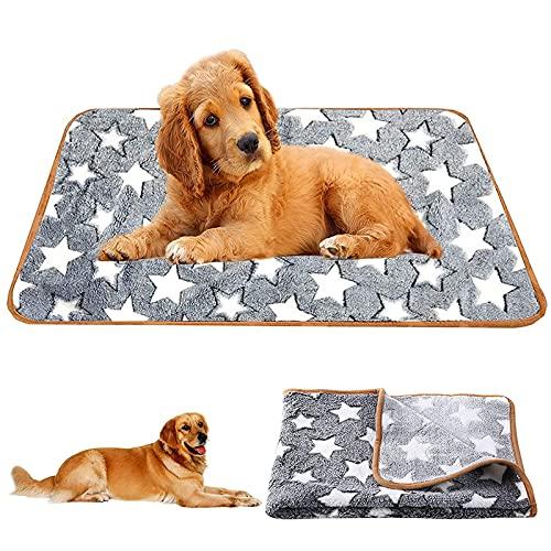 solawill Hundedecke Kuscheldecke, 104*75cm Waschbare Hundedecke, Haustier Decke,Decke Hund, Flauschige Haustierdecke, Fünfzackiges Sternchenmuster Hund Katze Bett Decken,für Hundebett Sofa und Couch
