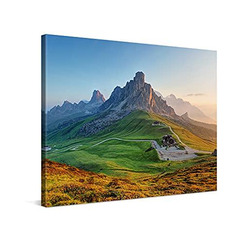 PICANOVA – Stampa su Tela Montagna Rocciosa 80x60cm – Quadro Moderno Incorniciato con Spessore di 2cm Altre Dimensioni Disponibili Decorazione – Montagne