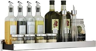 YJKDM Support à épices de Cuisine, Support de Rangement d'angle Multifonctionnel en Acier Inoxydable, pour Rangement Mural...
