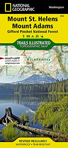 Mount St. Helens, Mount Adams [Gifford Pinchot National Forest] (National Geographic Trails Illustrated Map, 822)