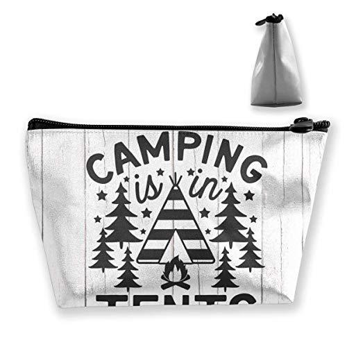 Camping está en Tiendas de campaña Bolsa de Maquillaje Gran Almacenamiento Trapezoidal Bolsa de Viaje Lavar Estuche de cosméticos Portalápices Cremallera Impermeable