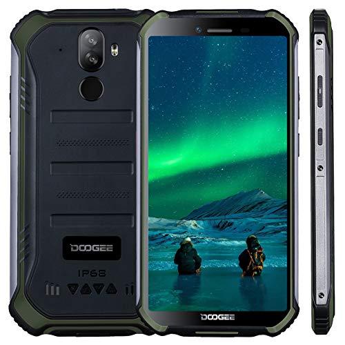 Téléphone Portable Debloqué Incassable, DOOGEE S40 Pro Smartphone Débloqué, Écran 5.45, 4650mAh, 4Go + 64Go, Caméra 13MP, Double 4G Android 10, NFC, Smartphone IP68 Étanche Antichoc (Vert)
