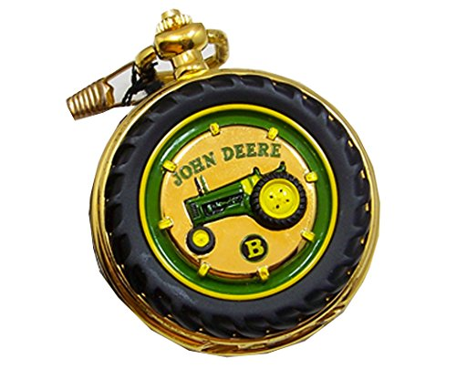 John Deere Pocket Watch Tractor Model B Franklin Mint Collectible Pocketwatch