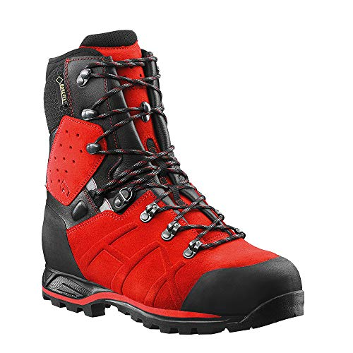 Haix Protector Ultra Signal red Leder Forststiefel mit Stahlkappe erfüllt alle KWF Profi-Anforderungen. 43