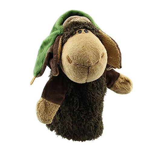 Cikuso Nette Pluesch-Velours Tierhandpuppen Schick Designs Kind Kinder Lernhilfe Spielzeug (Lei Feng Schafe) grau