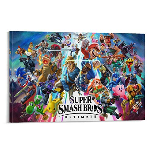 Póster de Super Smash Bros Ultimate Background para decoración de pared, sala de estar o dormitorio, 60 x 90 cm