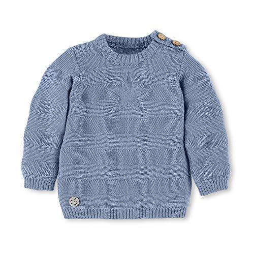 Sterntaler Strick-Pullover mit Stern und Knöpfen, Alter: 12-18 Monate, Größe: 86, Hellblau