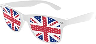 Union Jack Flag of United Kingdom Custom Sunglasses Perforated Lenses