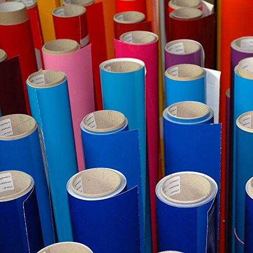 5 Meter Premium Möbelfolie und Bastelfolie Dunkelrot Hochglanz 32 Farben - verschiedene Größen - Küchenfolie - Klebefolie zum Basteln, für Möbel, Türen selbstklebende Folie Küche