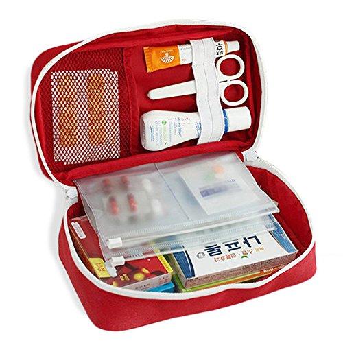 Bureze First Aid Pouch Sac de rangement sur toile Portable Daily Drug Sac de voyage
