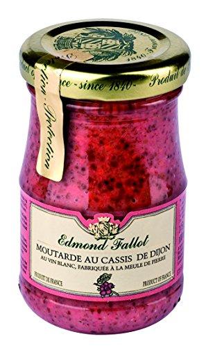 Edmond Fallot - Senf mit schwarzen Johannisbeeren (Moutarde au cassis de Dijon) im Glas, 105 g