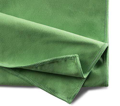 Mopptex - Juego de 200 microfibras de terciopelo (40 x 40 cm), color verde