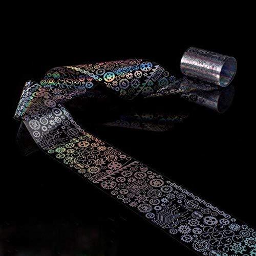 Nailart - Nagelfolie - Transferfolie - Silber holo/Hintergrund klar - 1400-W020