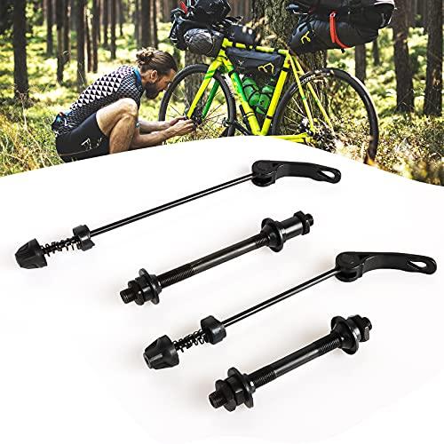 Yisscen 1 Satz Fahrrad Schnellspanner Fahrrad Achsen Set Hinterrad und Vorderrad Hohlachse, für Rennrad, Mountainbike, BMX (Schwarz)