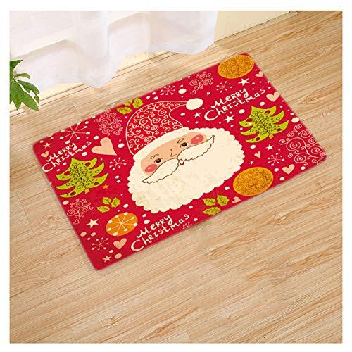 XYH Navidad Puerta de La Estera, Entrada Mat, Impermeable Antideslizante Mat Pie, Apto for Uso Interior Y Exterior Tapetes (Color : 02, tamaño : 60cm×90cm)