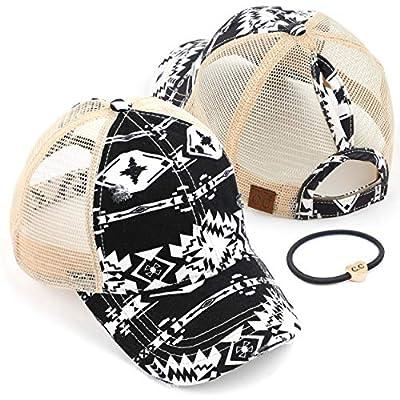 C.C Washed Distressed Cotton Denim Ponytail Hat Adjustable Baseball Cap (BT-12)(BT-13)(BT-14)(BT-15)(BT-18)(BT-780)(BT-783)