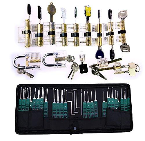 TPM Go Super Professional serrurier Practise Lot, 14pcs Transparent Lock Famille...