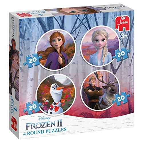Jumbo 19746 Puzzel Frozen 2 Rond: 4 in 1, 36+ mnd