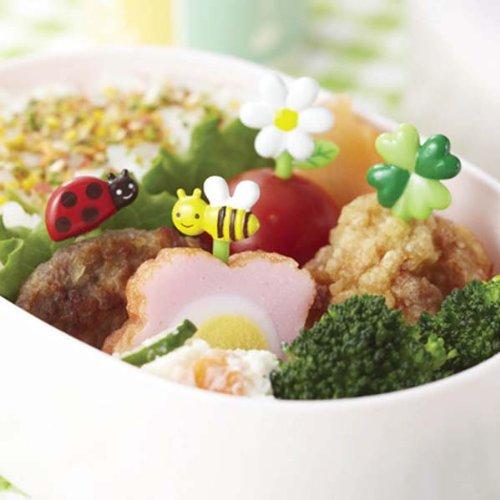 CuteZCute Bento Food Pick, 8-Piece, Honey Bee Flowers